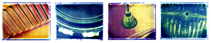 Car Parts Series - Pinhole Camera Polaroid Transfers