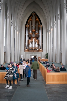 Inside Hallgrimskirkja Cathedral Church