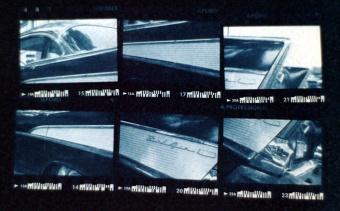 Fins - 35mm Film Cyanotype Print