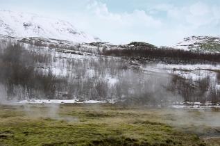 Landscape by Strokkur Geyser