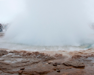 Strokkur Geyser eruption.