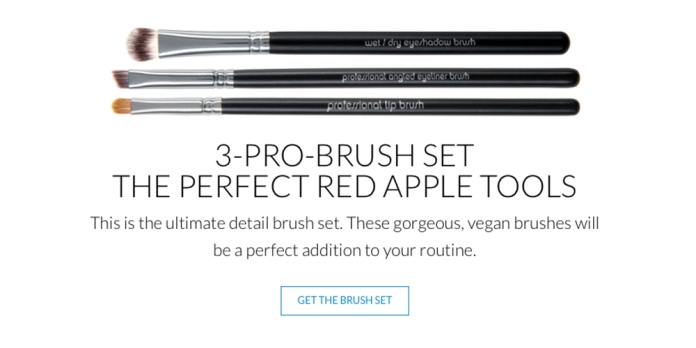 Red Apple Lipstick Brush Set Web Banner