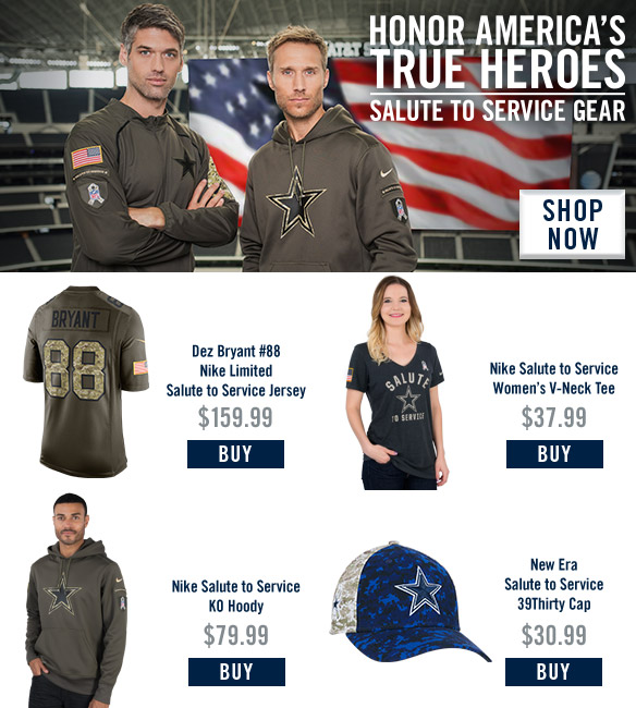2016 Dallas Cowboys Salute to Service - Email