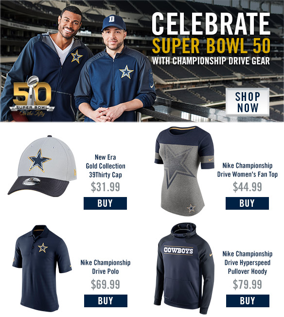 2015 Dallas Cowboys Gold Collection Campaign - Email