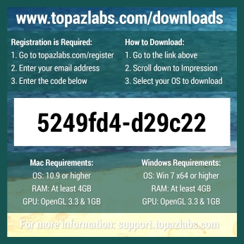Topaz Labs Impression - Back